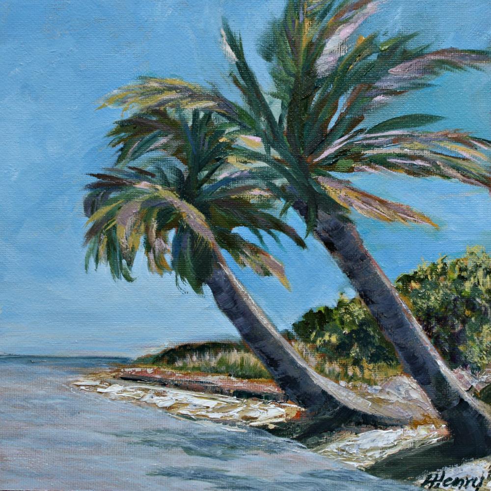 Bahia Honda Palm Trees | Laurie Henry Fine Art