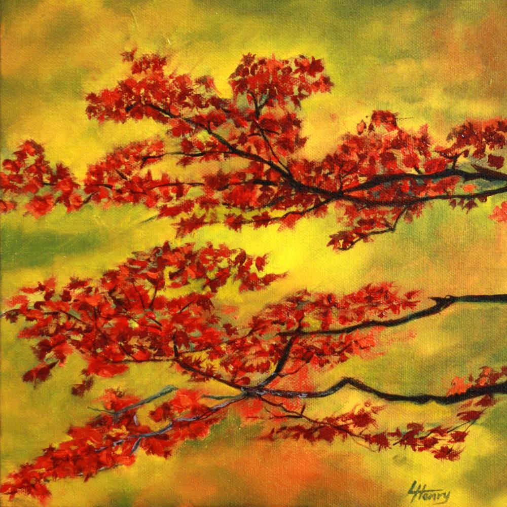 Maple Leaves   Laurie Henry Fine Art
