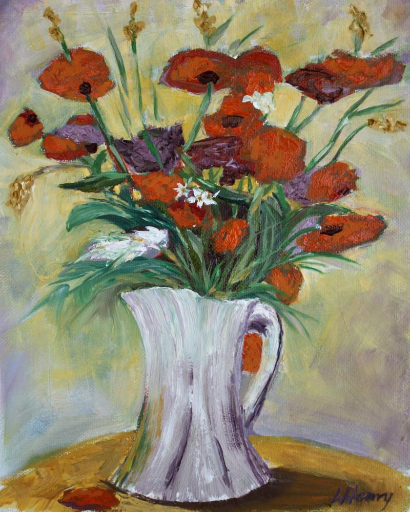 Poppies   Laurie Henry Fine Art
