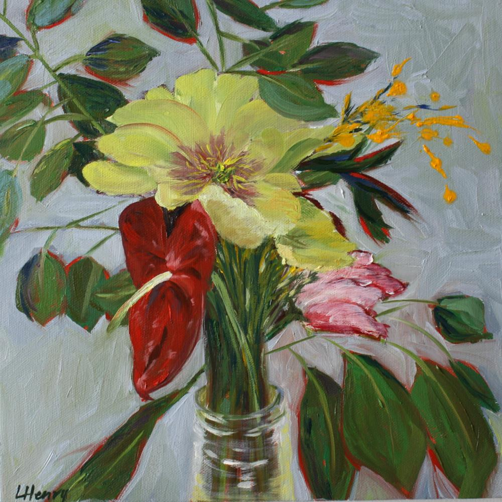 Yellow and Red Flower   Laurie Henry Fine Art