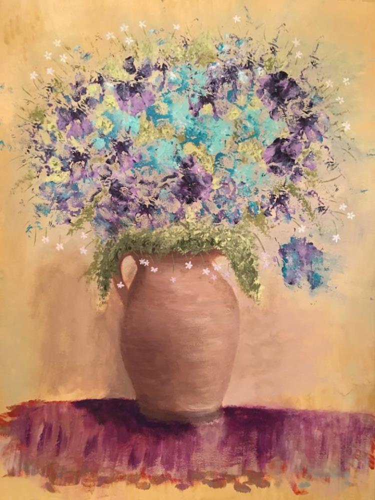 BluePurpleFlowers   Paintings