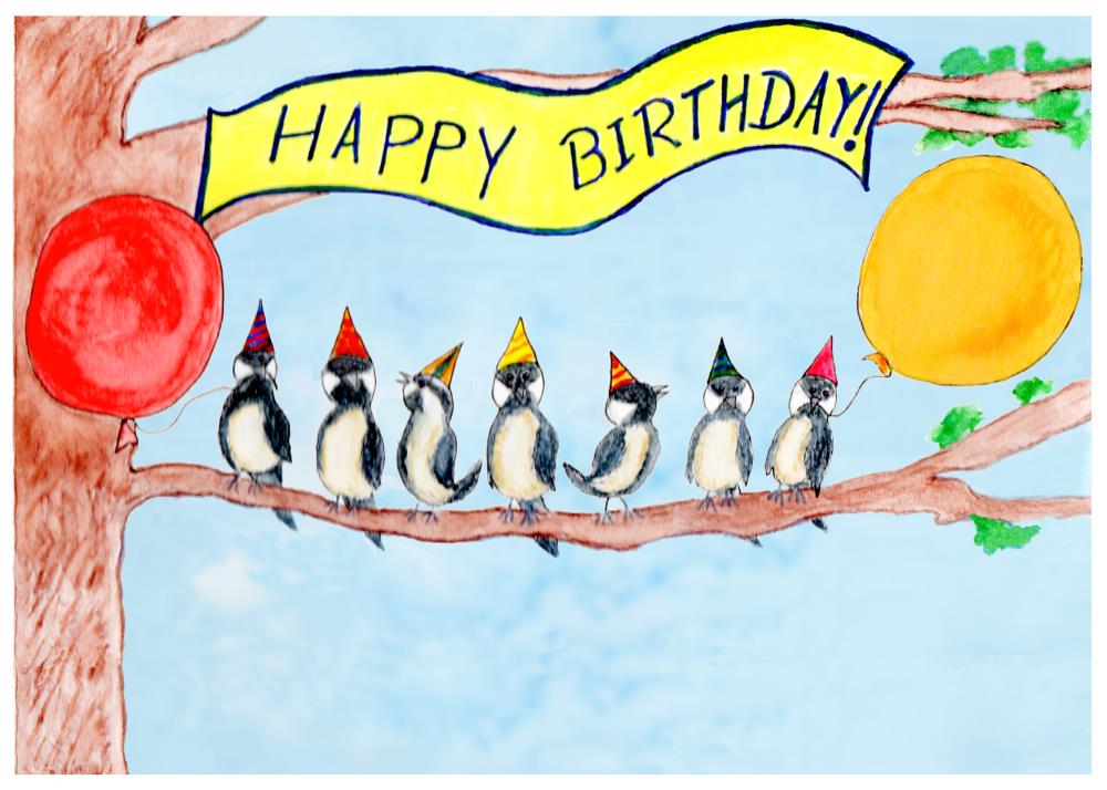 7th Birthday Card | DAV Ilustration
