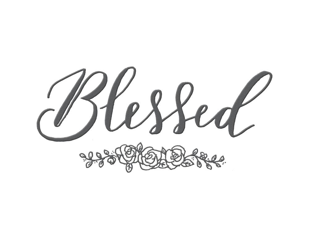 Blessed Hand Lettered Sig... |  Hand and Hart Designs