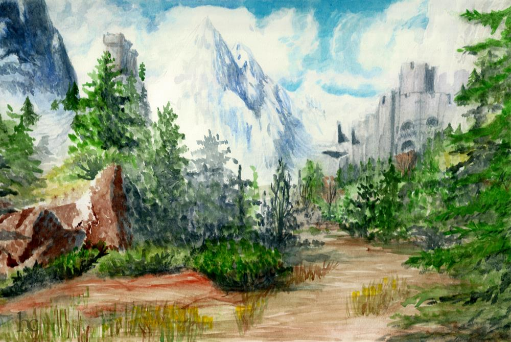 Road To Kaer Morhen | A Collection of my Artwor...