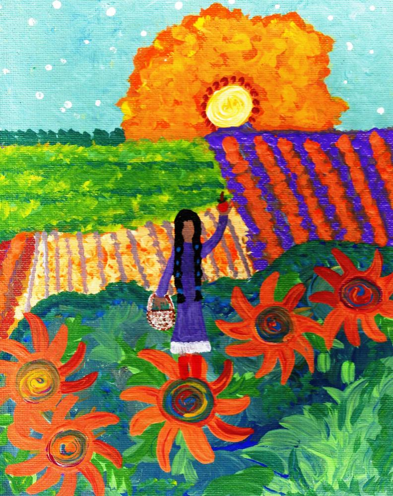 """a Girl in her Garden"" by... 