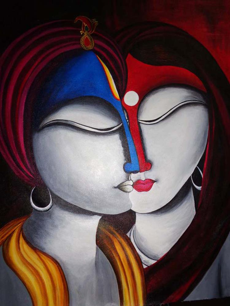 Krishna Radha Spiritual L... | Paintings , Prints,  and ...