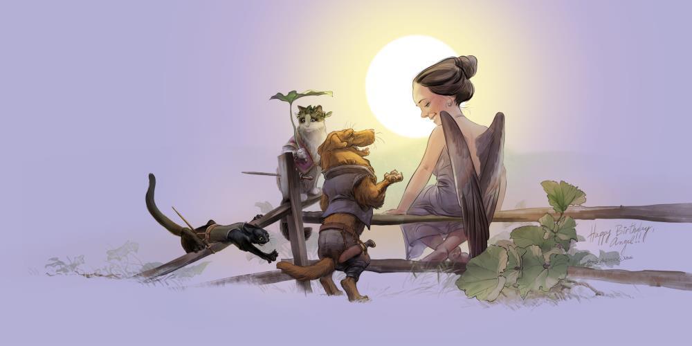 Little Angel and Her Merr... | Folking Boris Art