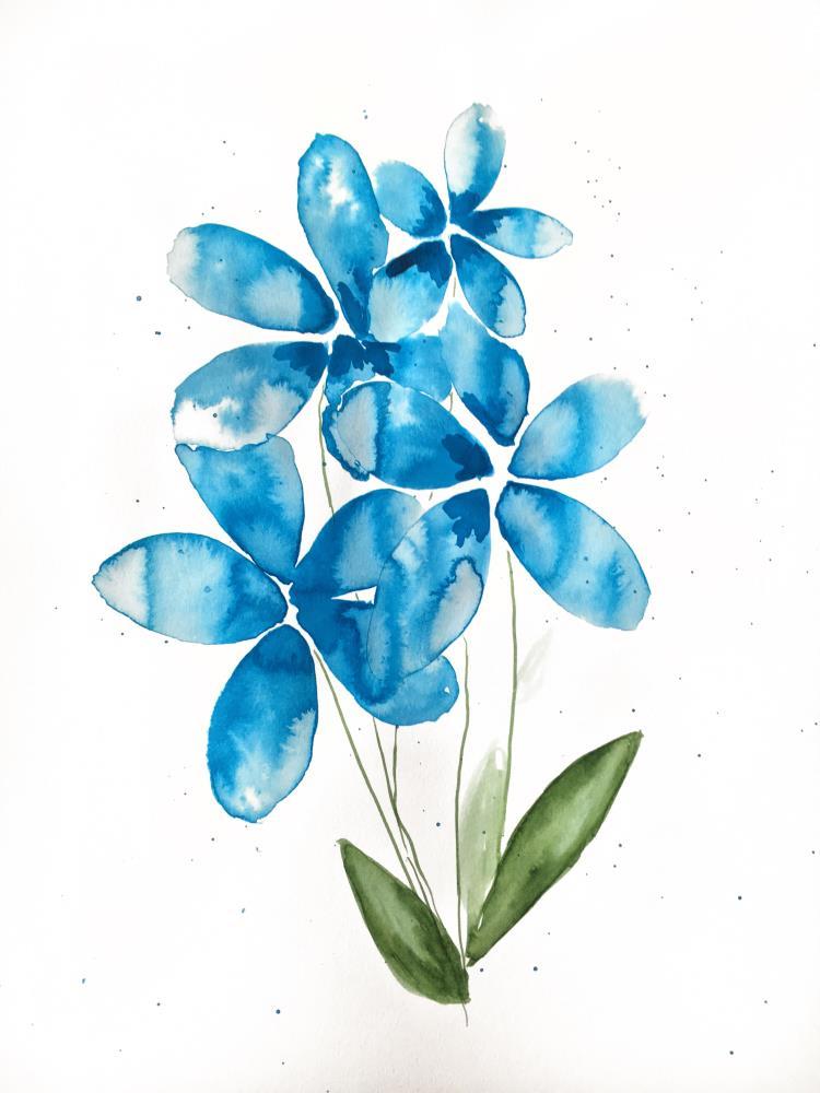 Blue Flower   RosemaryAnn Designs