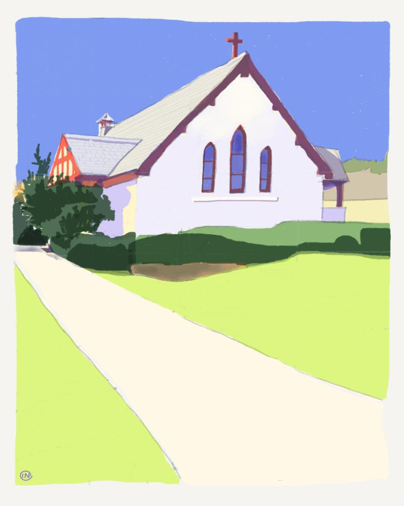 Weekapaug Chapel | Paintings: Traditional Wa...