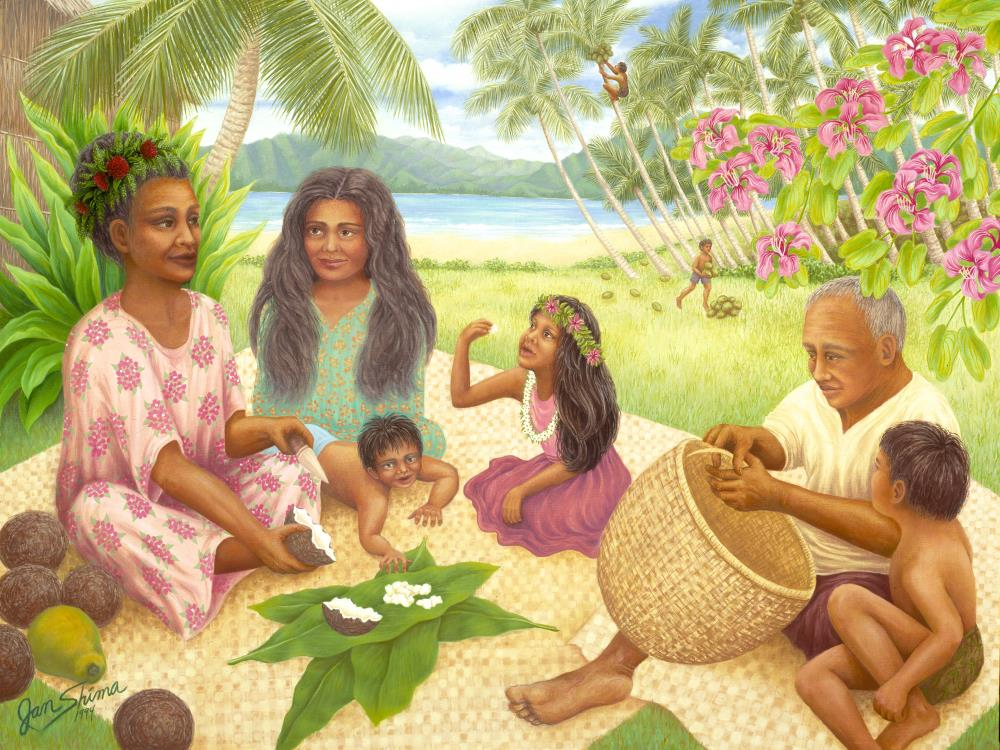 Coconut Plantation Family | Jan Shima Artwork