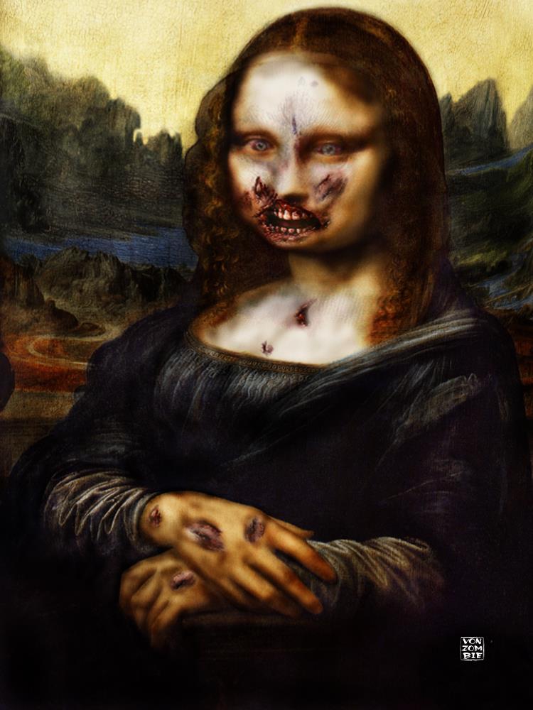 Moan A Lisa De Zombie    Vonzombie Gallery