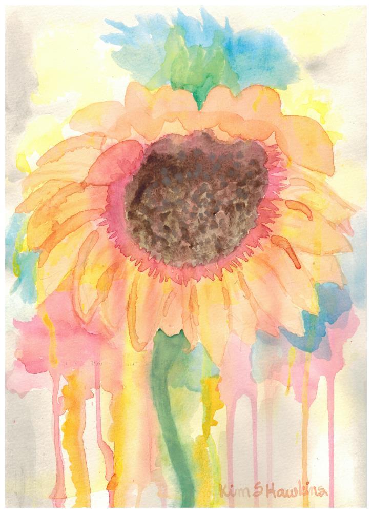 Impromptu Sunflower | Happy Accidents in Creati...