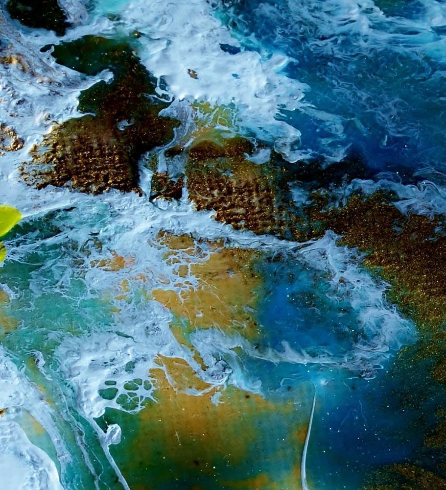 BLUE LAGOON VIBRANT | Charline Daigle Art