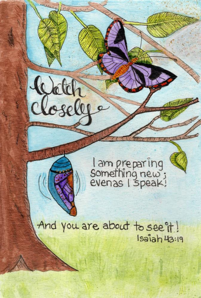 Watch Closely Isaiah 43: ... | Not An Artist