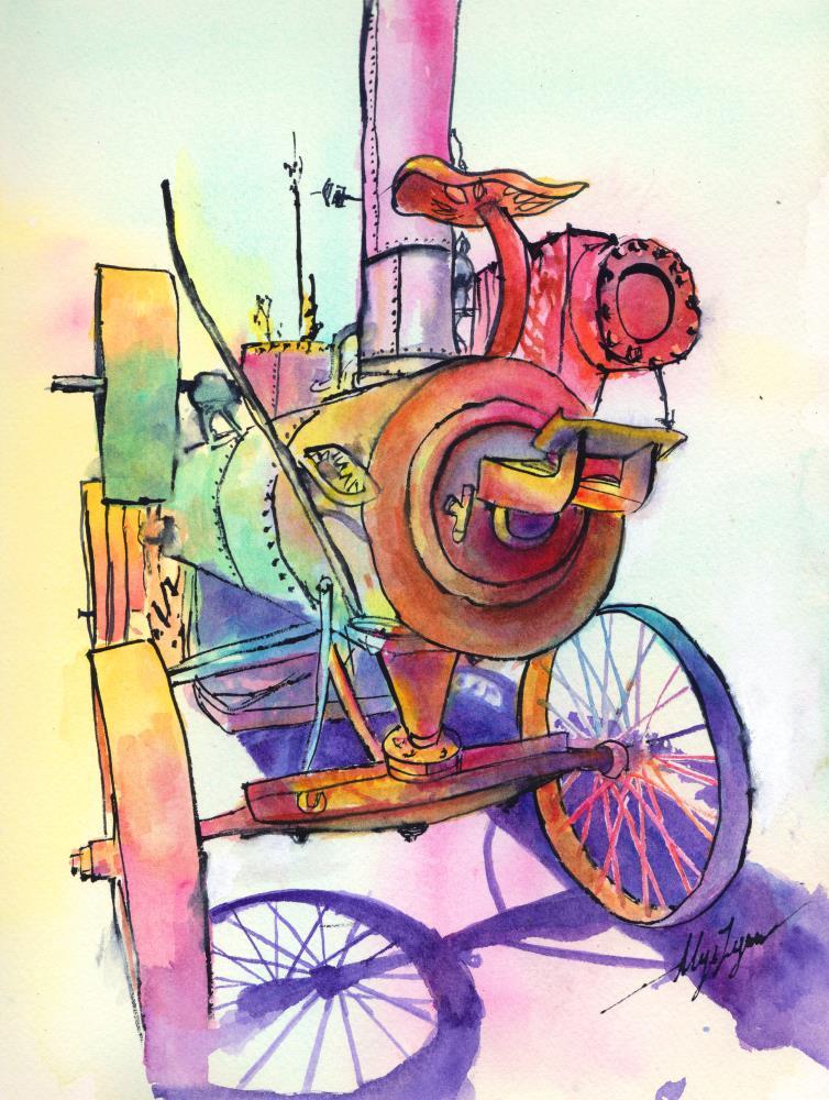 Newfangled Machine | AlysLynn Fine Art