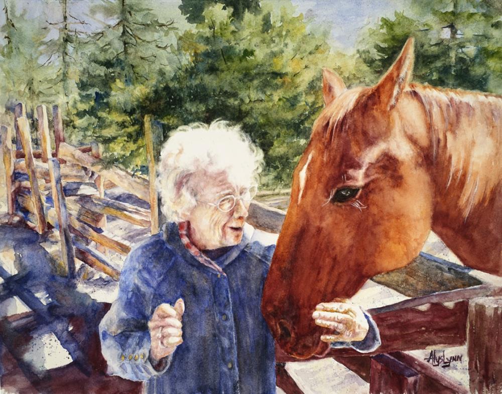 Stagecoach Lady   AlysLynn Fine Art
