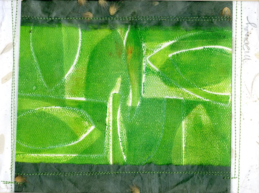 Abstract Green Leaves   MARY FORNEY ART