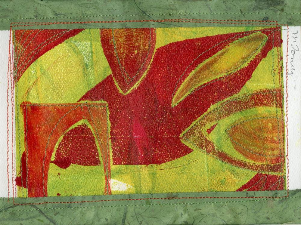 Leaves with Green and Red   MARY FORNEY ART