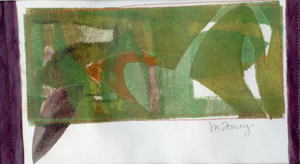 Leaves with Green and Pur...   MARY FORNEY ART