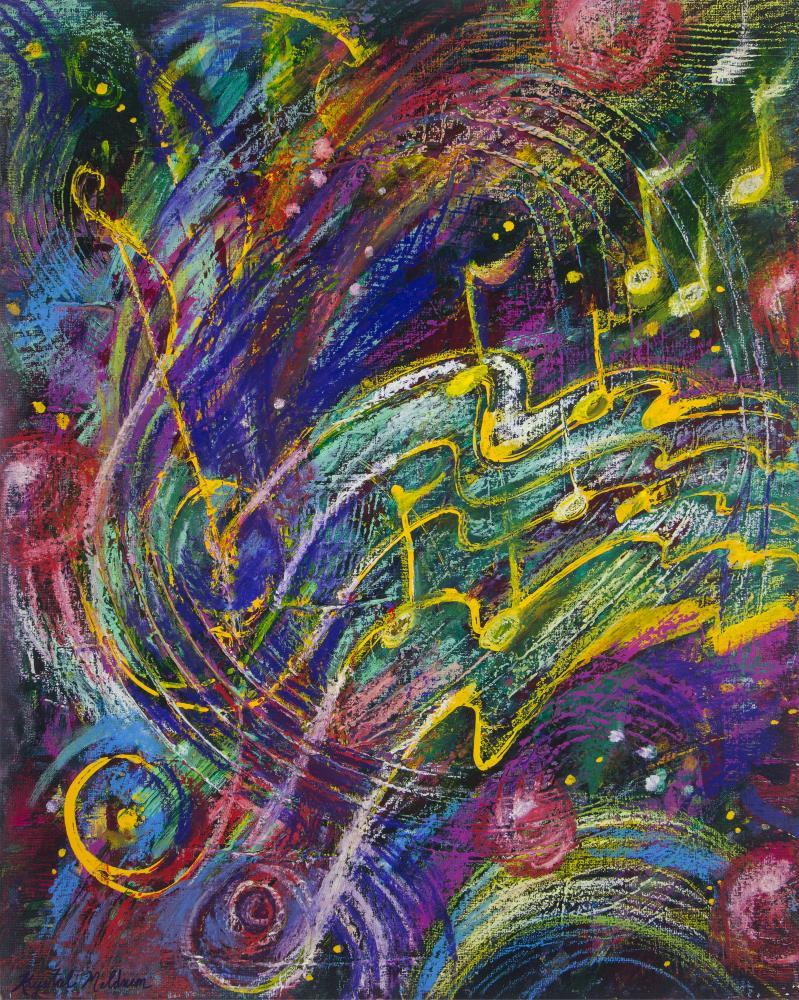Can You Fee the Music | Krystal Meldrum Fine Art