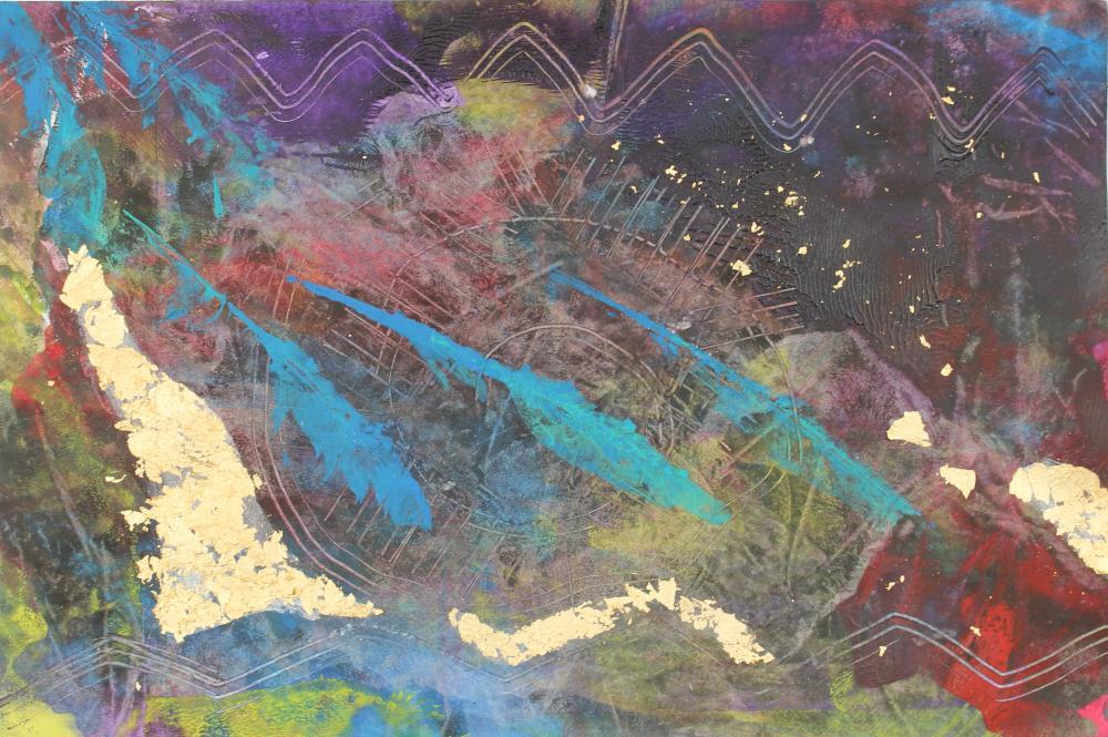 Monotype: Three Feathers  | KD Galonedi