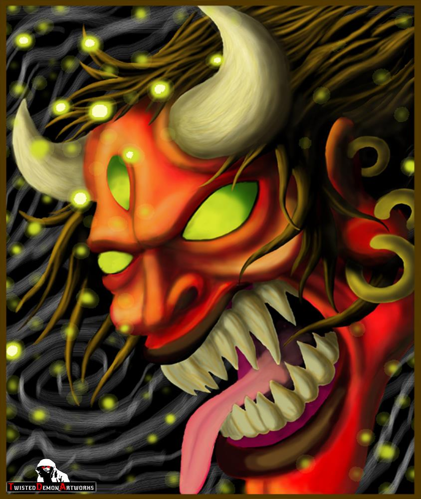 Red Oni Head | Twisted Demon Artworks Pr...
