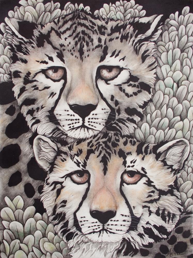 Cheetah Pair | AnnieSyllingArt