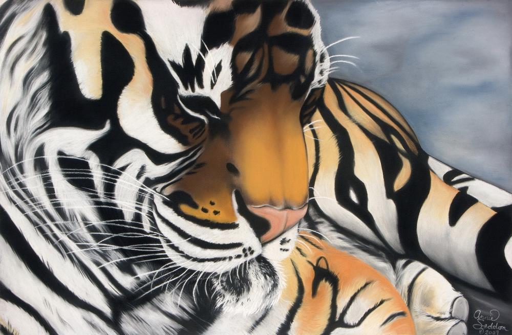 Sleeping Tiger | AnnieSyllingArt