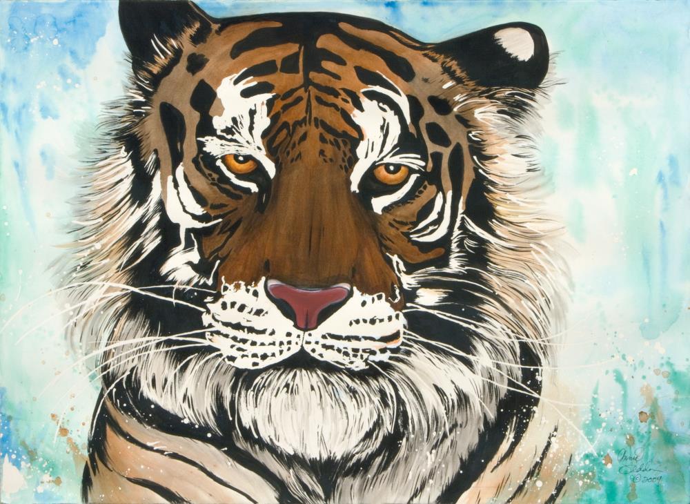 Watercolor Tiger | AnnieSyllingArt