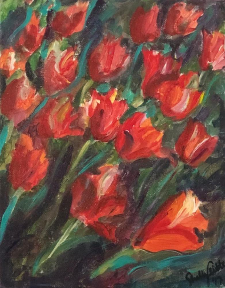 A Torrent of Tulips | Marie Shelly Art