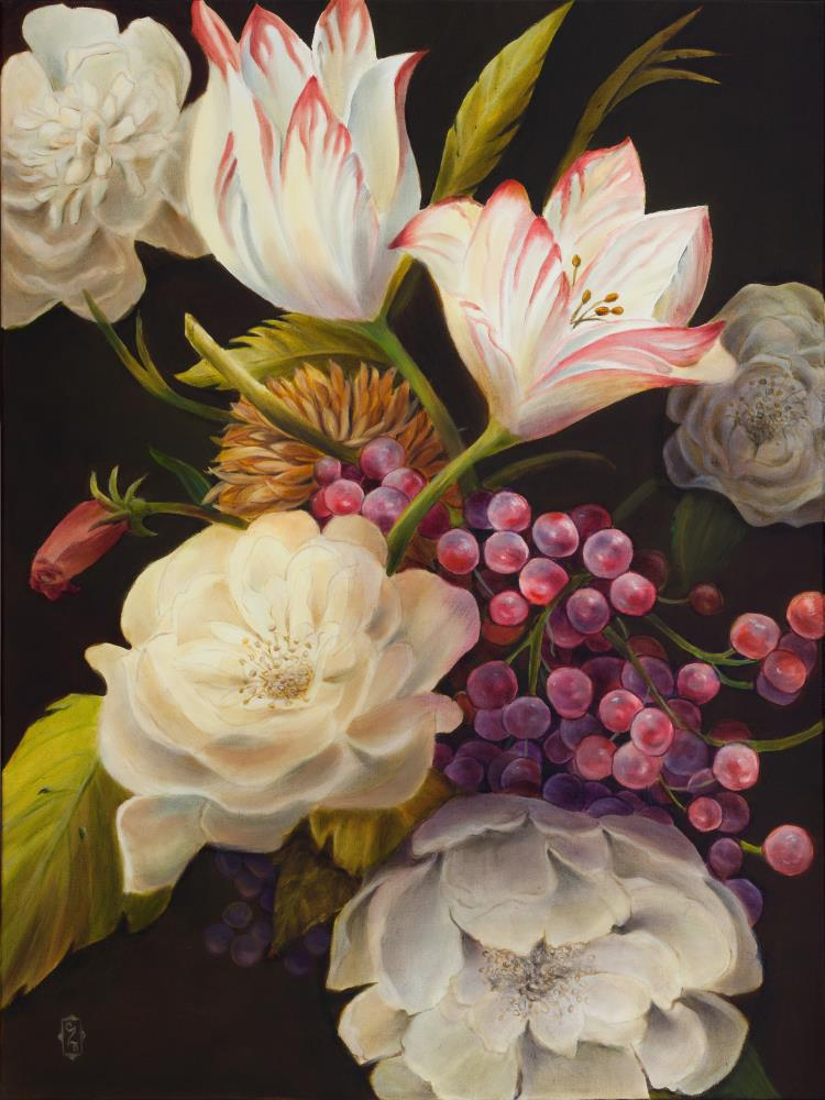 Winter Floral  | Art by Marsha Bowers