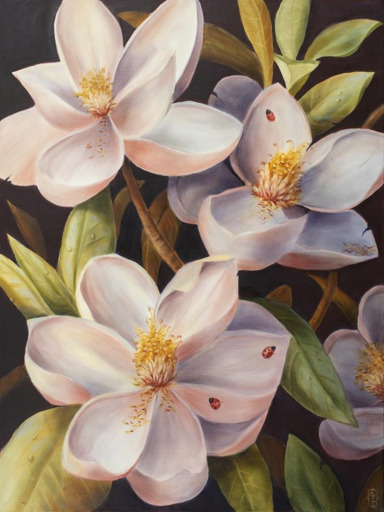 Magnolias | Art by Marsha Bowers