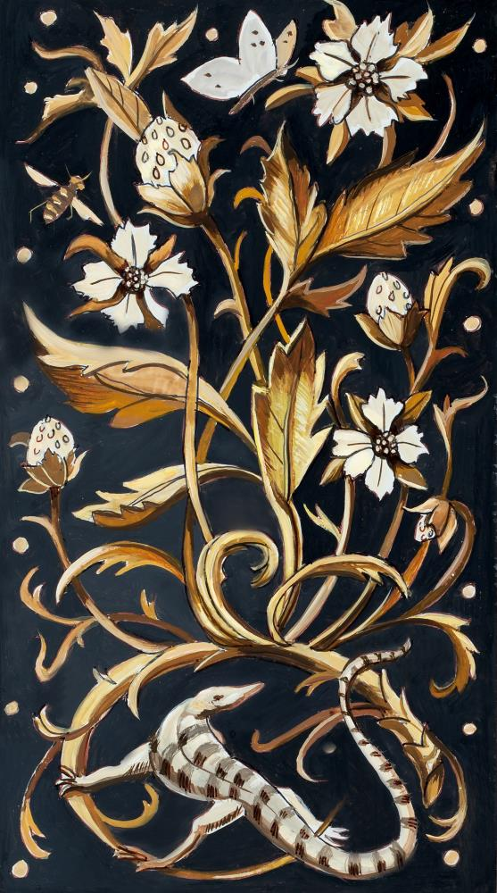 Decorative Panel with Liz... | Art by Marsha Bowers