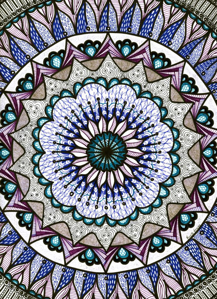 Rose (Blue)   OZARE ART
