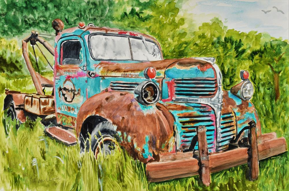 Rusty Old Tow Truck | stardustfineart@gmail.com