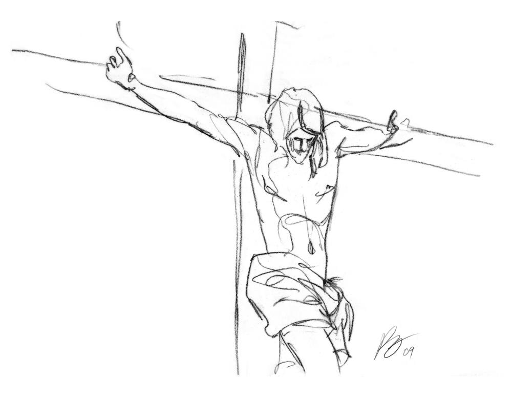 The Crucified Christ | Kathy Berry Illustrations