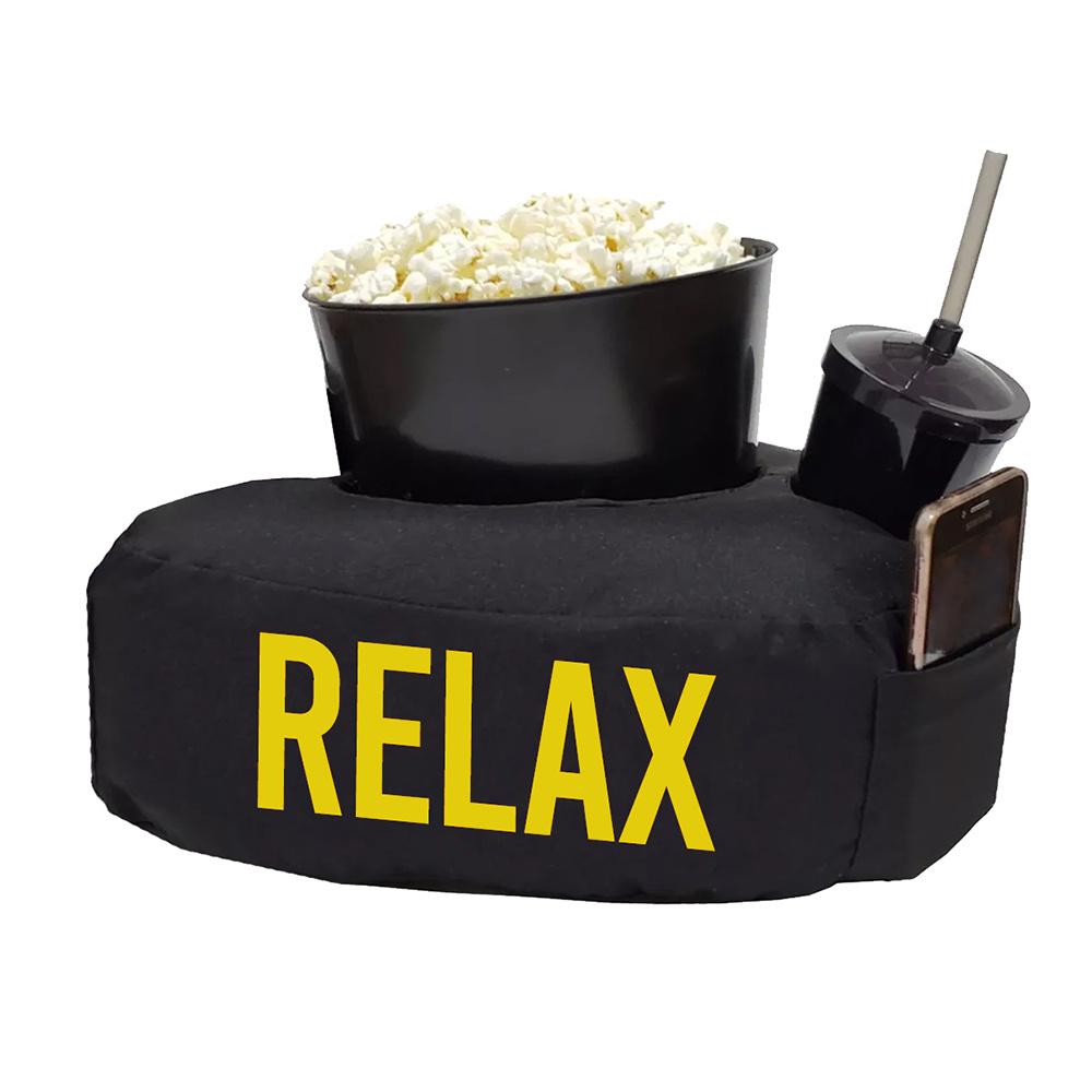 Almofada Relax Pipoca Refri Tecido Misto 40cm x 30cm 03 Peças - Amarelo