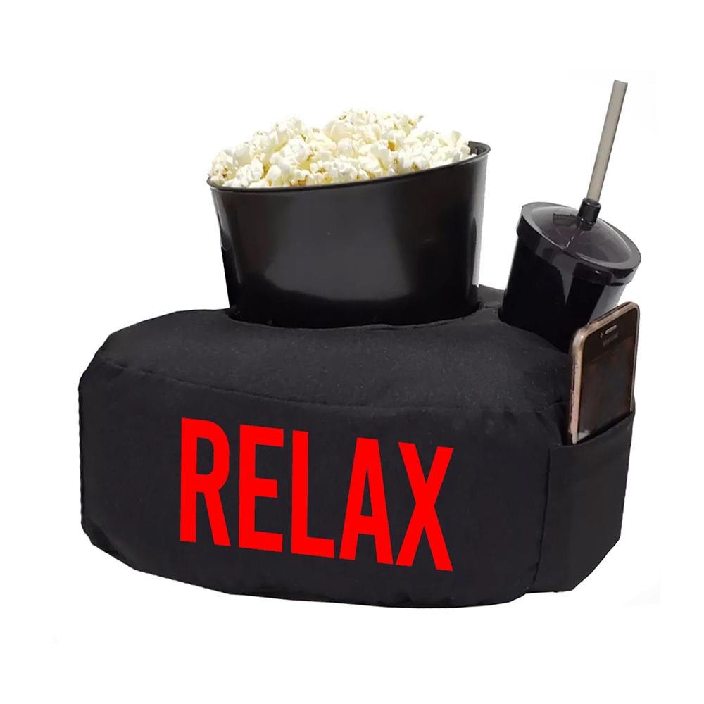 Almofada Relax Pipoca Refri Tecido Misto 40cm x 30cm 03 Peças - Vermelho