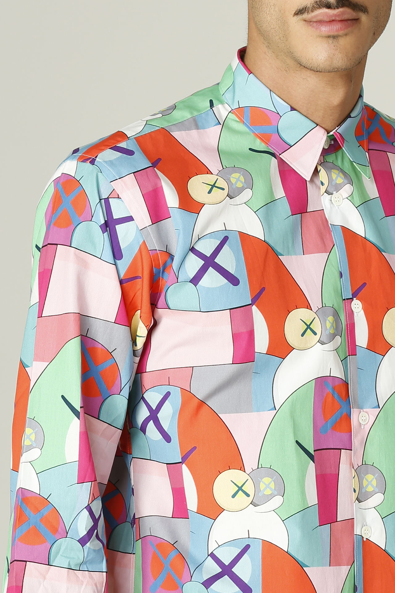 Camicia con stampa KAWS COMME DES GARCONS SHIRT   Camicia   FH-B019-W2162052000