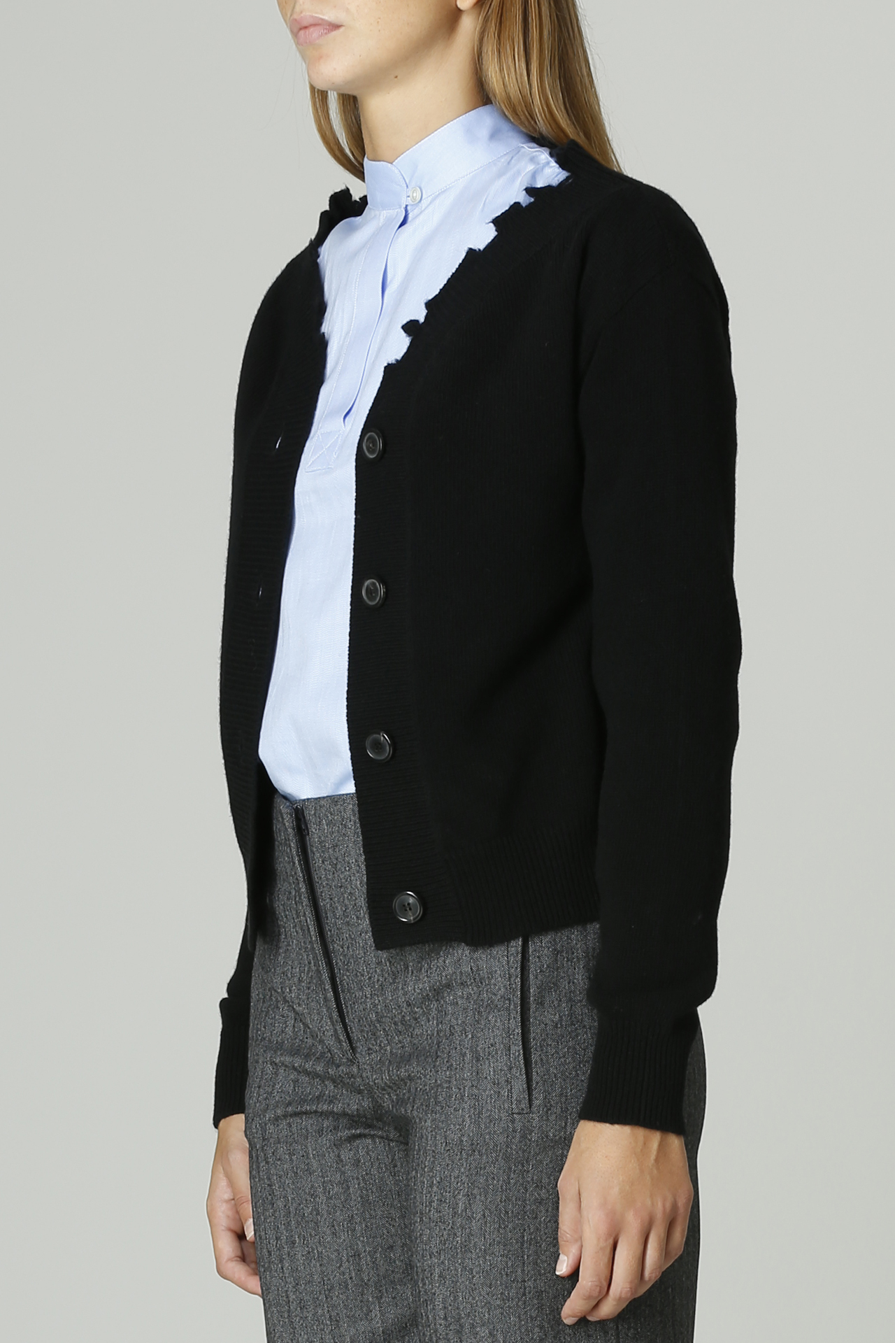 Cardigan con bottoni GRIFONI   Cardigan   GL210013/64NERO