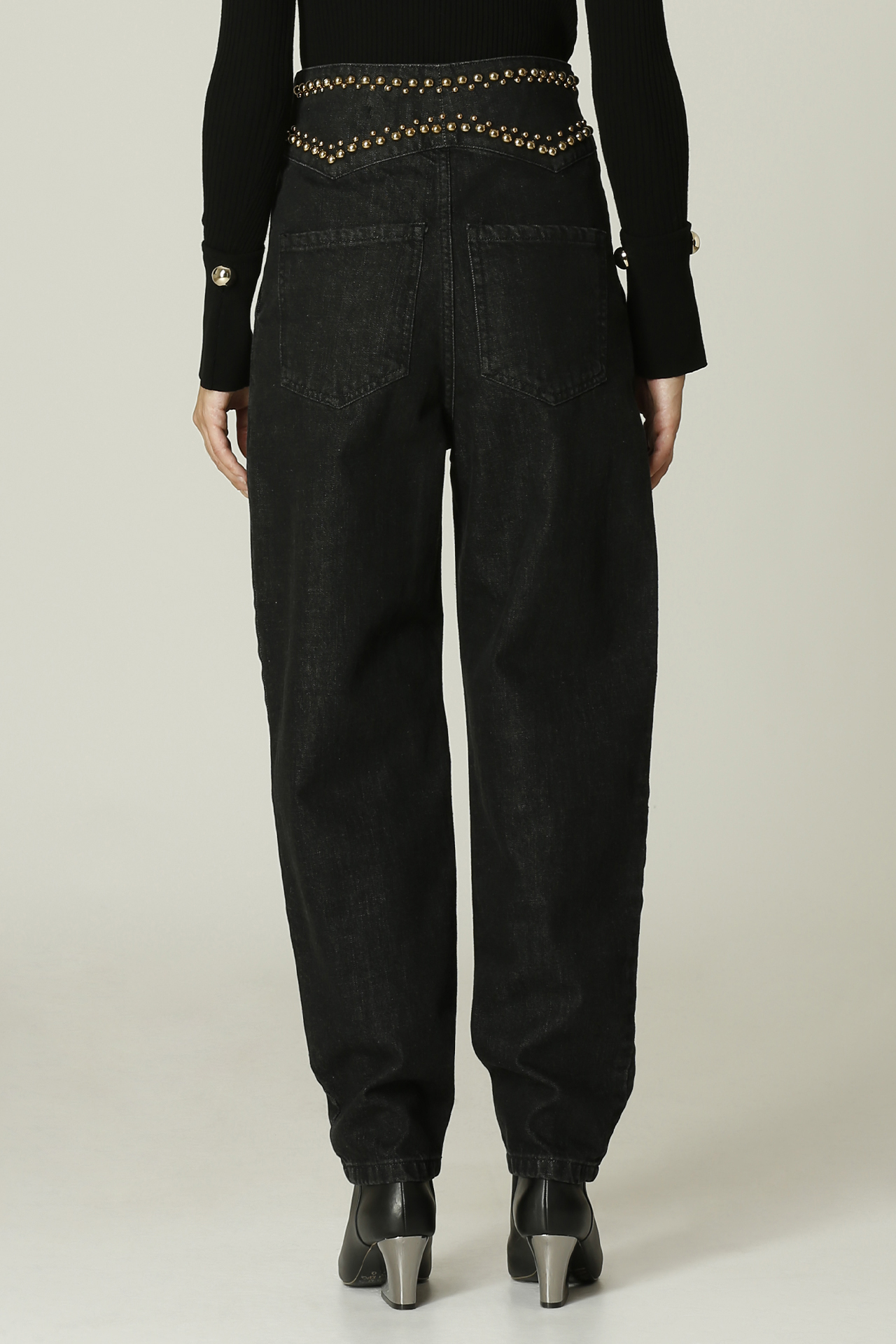 Jeans con borchie SIMONA CORSELLINI   Jeans   A21CPOAD06NERO