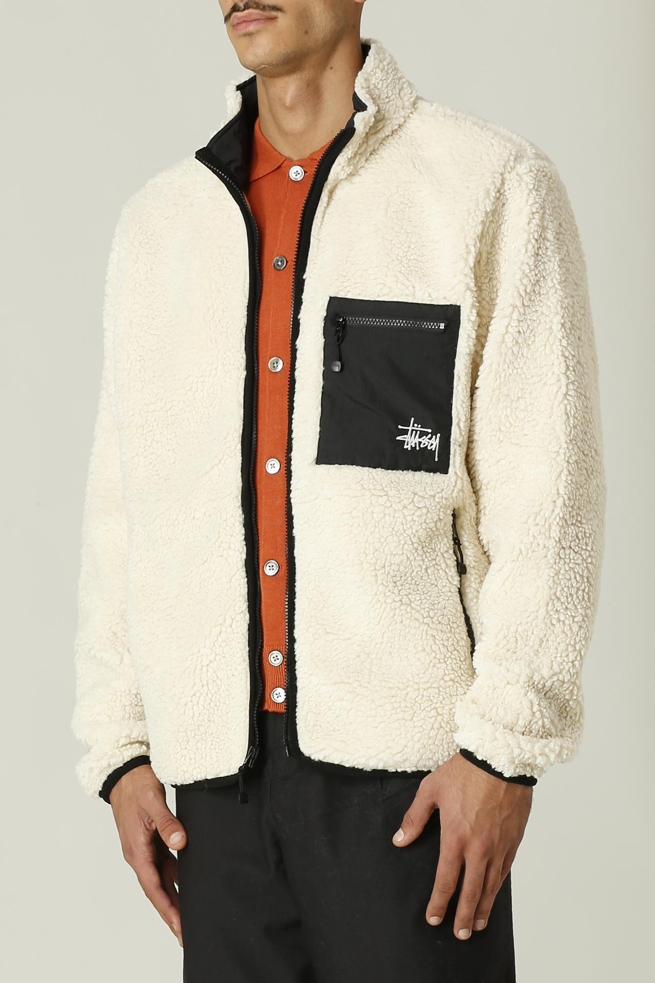 Jacket con logo STUSSY   Jacket   118437VENUS JACQUARD SHERPA