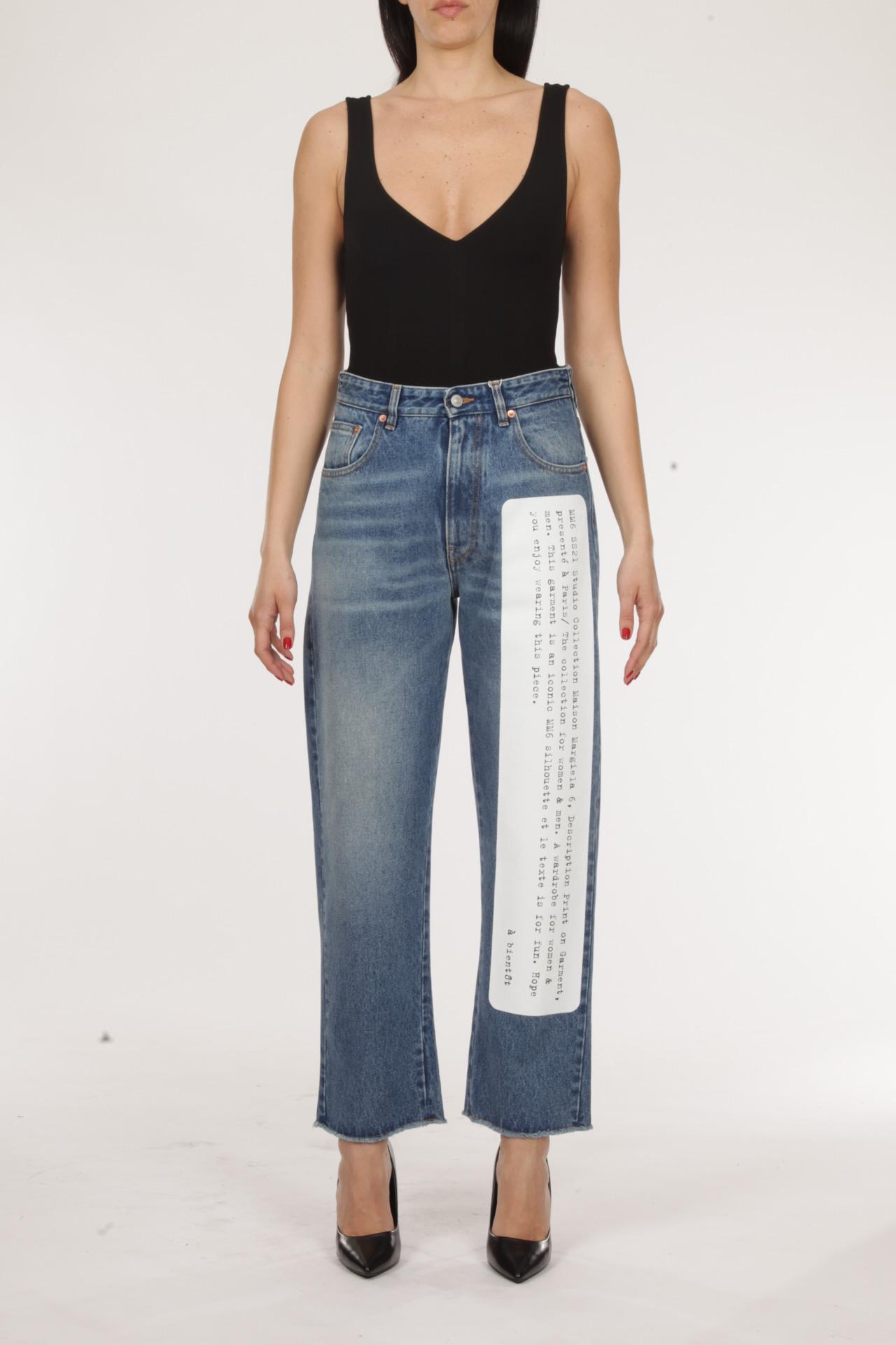 Jeans con scritta MM6 MAISON MARGIELA | Jeans | S62LB0052-S30589965