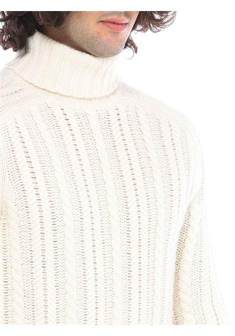 Maglione collo alto ALPHA STUDIO | Maglione | AU3332/G9210 OFF WHITE