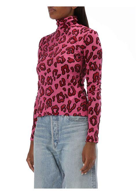 Top a collo alto leopardato AMBUSH | Lupetto | BMAB007F20JER0013030