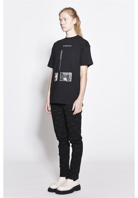 T-shirt con stampa CSNV | T-shirt | 0020BLACK