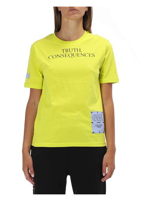 T-shirt con applicazione MCQ   T-shirt   624760DRPT73 3831