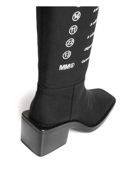 Stivali con stampa sul davanti MM6 MAISON MARGIELA   Stivali   S59WW0090P3499