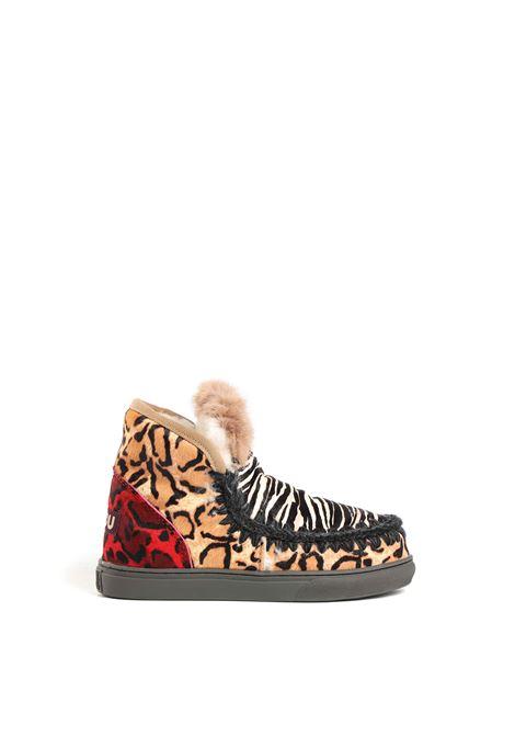 Sneaker pony mix & mink fur MOU | Sneakers | FW111007DZEBBK