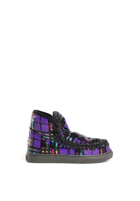 Eskimo sneaker plaid sequins MOU | Sneakers | FW1201028GPLSPU